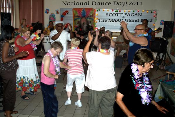 """Shake A Bum"" at National Dance Day!  Scott Fagan and The MAAC Island Band"